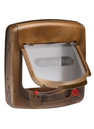 PETSAFE Petsafe 420 Ef Staywell Deluxe Mıknatıslı 4 Yönlü Kilitli Kapı Ahşap Rengi Kahve
